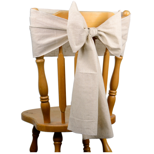 "Linen Chair Sashes (Selvage Edge) - 8"" x 108"""