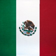 "100% Cotton Mexican Flag Bandana - 22"" x 22"""