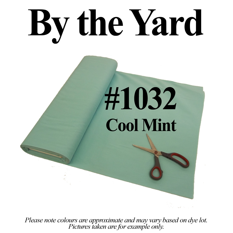 "45"" Mint Broadcloth - By the Yard"