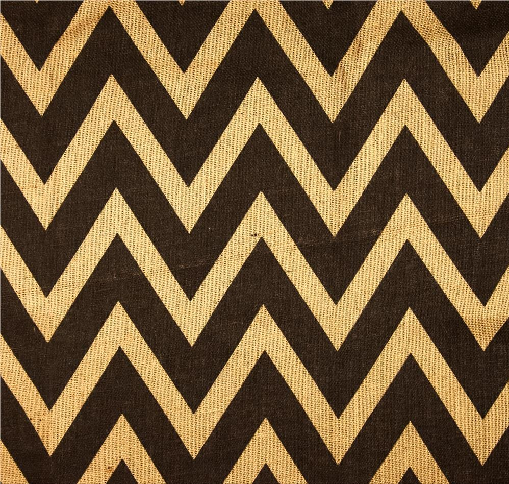 "Black/Natural 60"" Chevron Burlap 20 Yds"