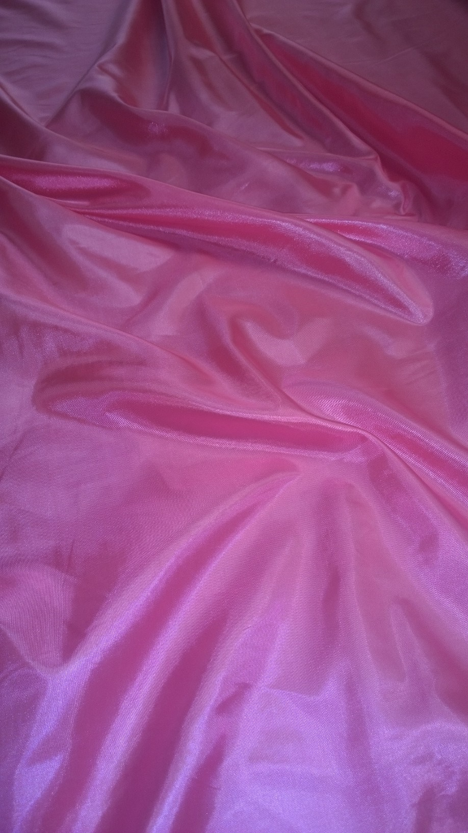 "By The Yard- 60"" Neon Pink Habotai Fabric"