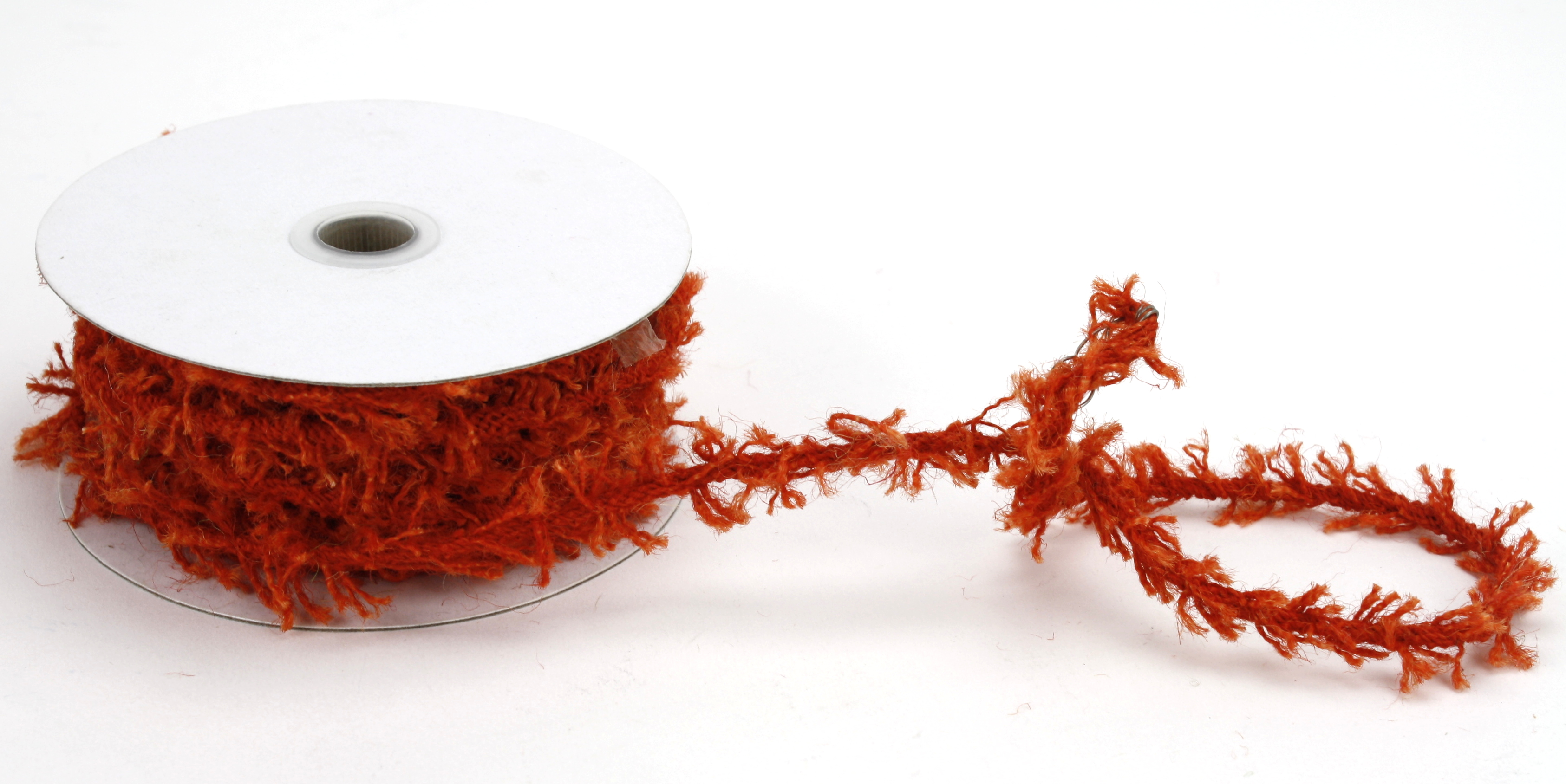 Wired Jute Twine- 10 Yds x 8mm - Orange