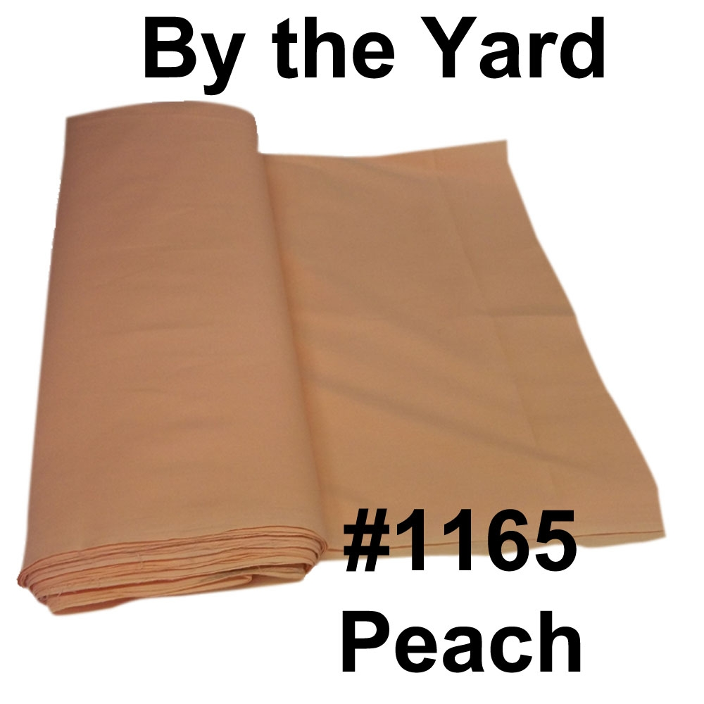 "45"" Peach/Apricot Broadcloth- By the Yard"