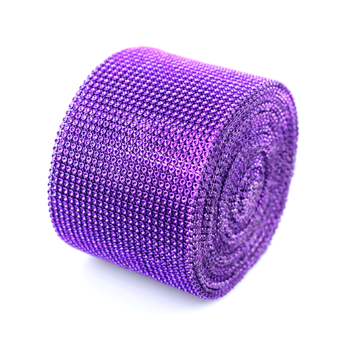 "Purple Diamond Mesh Wrap - 4.5"" x 30 Feet"