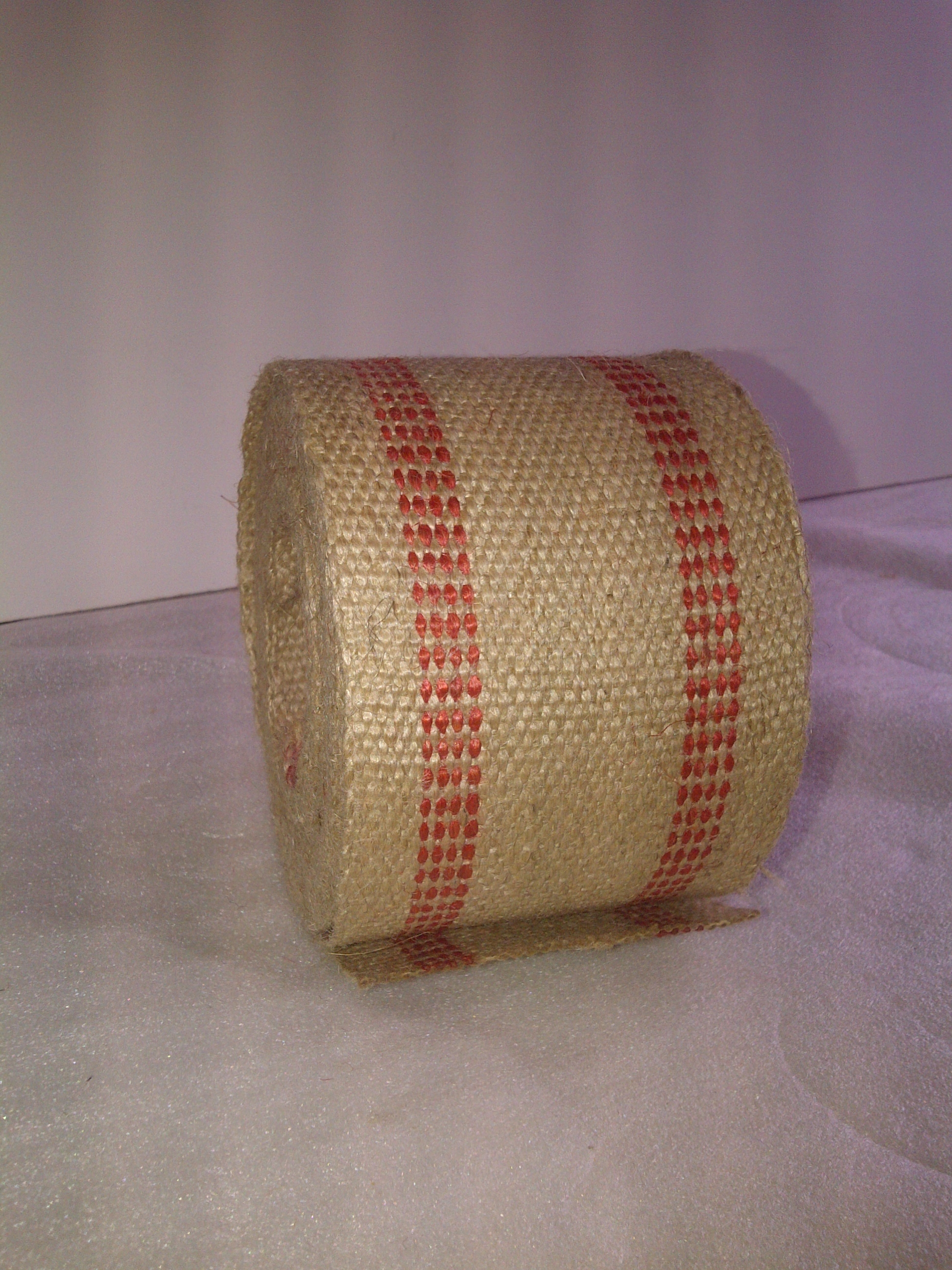 Jute Webbing- Red 10 Yds