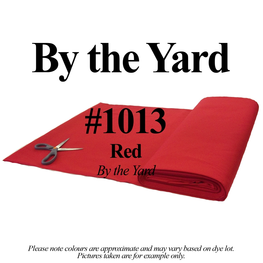 "45"" Red Broadcloth - By the Yard"