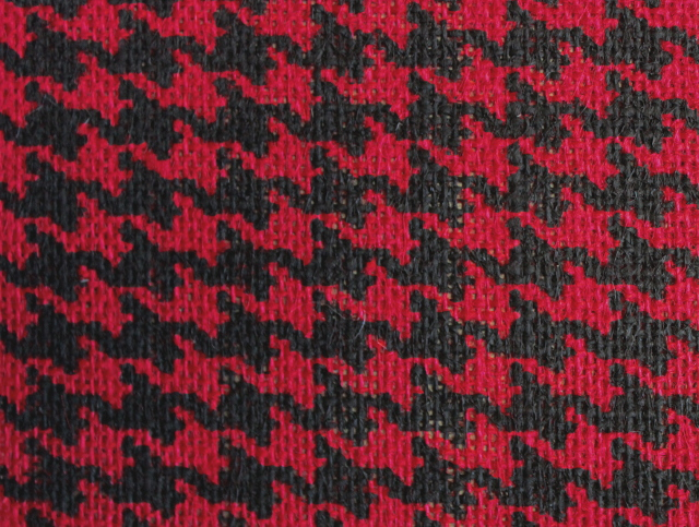 Natural /Red Houndstooth Burlap Bolt 20 Yds