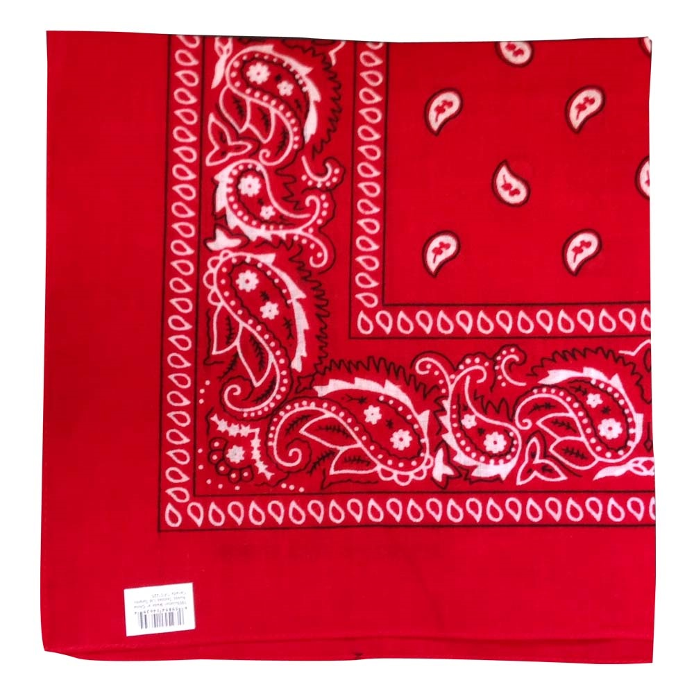 "Paisley Bandana (100% Cotton) - Red 22"" x 22"""