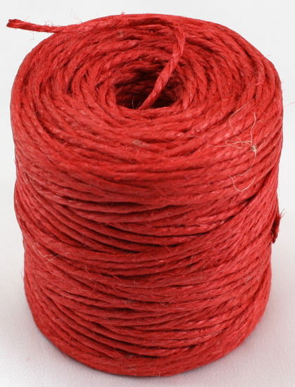 3 PLY JUTE TWINE- RED 75 YDS