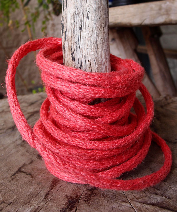 9 Yards Wired Jute Twine- Red Coral