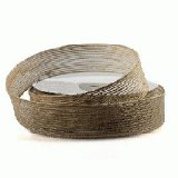 "Natural Burlap Ribbon - 1"" x 25 Yards (Sewn Edges)"