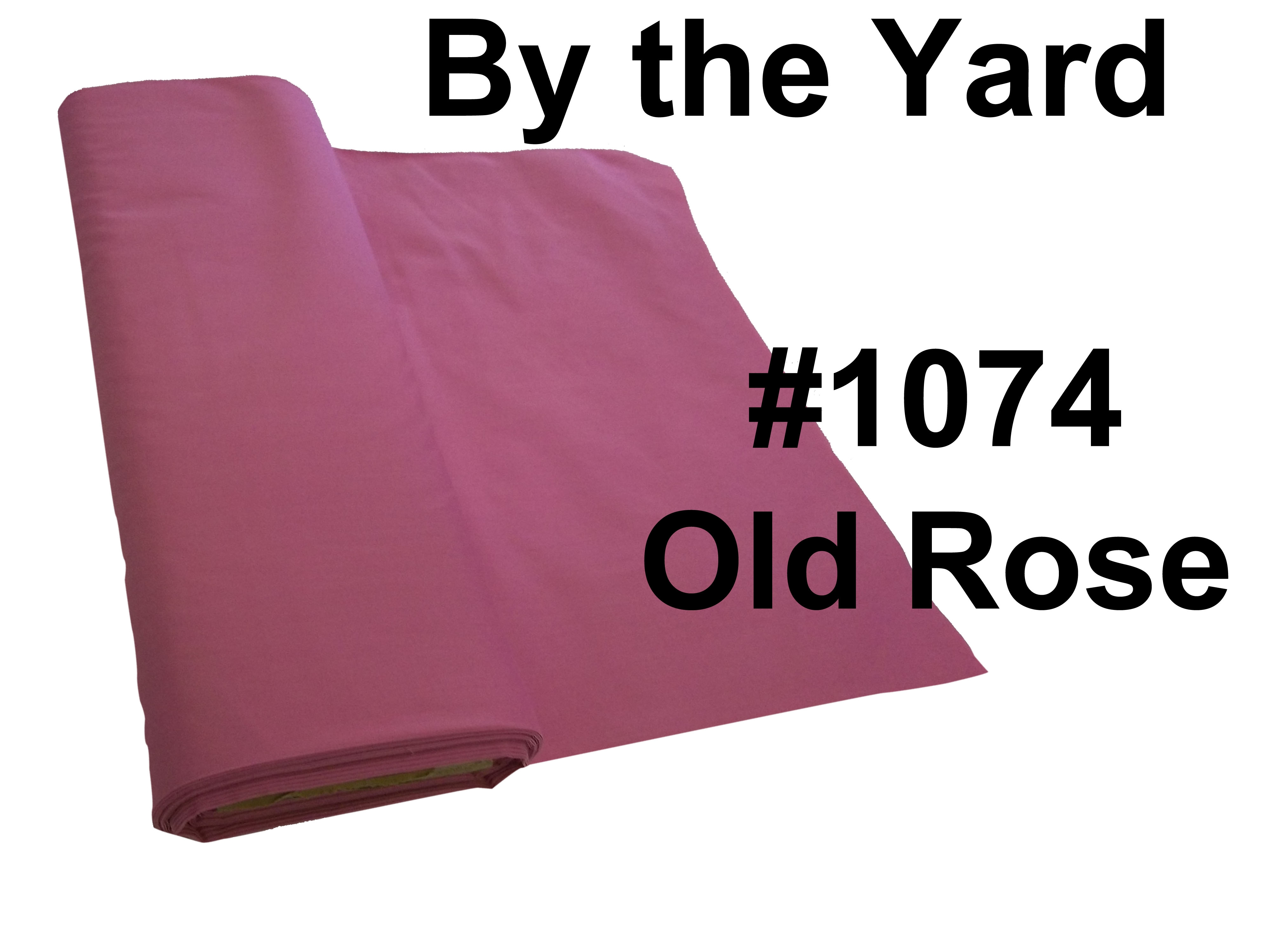 "45"" Old Rose Broadcloth - By the Yard"