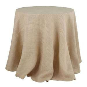 "120"" Round Burlap Tablecloth"