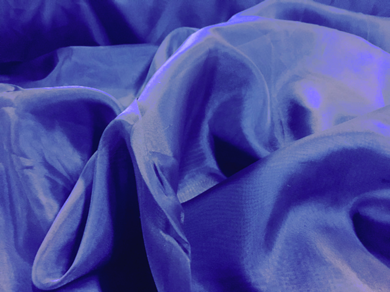 "Voile Fabric 118"" Wide in Royal Blue - By the Yard"