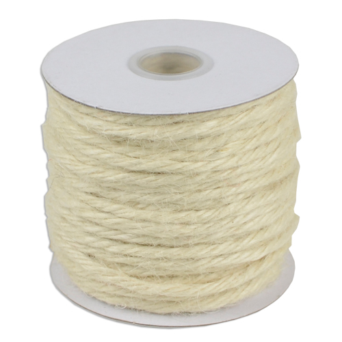 Off White Jute Twine - 3.5 mm x 25 Yards