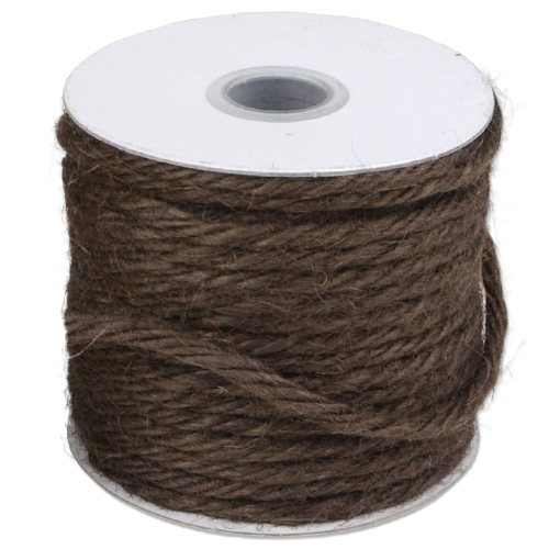 Chocolate Brown Jute Twine - 3.5 mm x 25 Yards