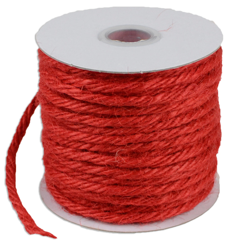 Red Jute Twine - 3.5mm x 25 Yards