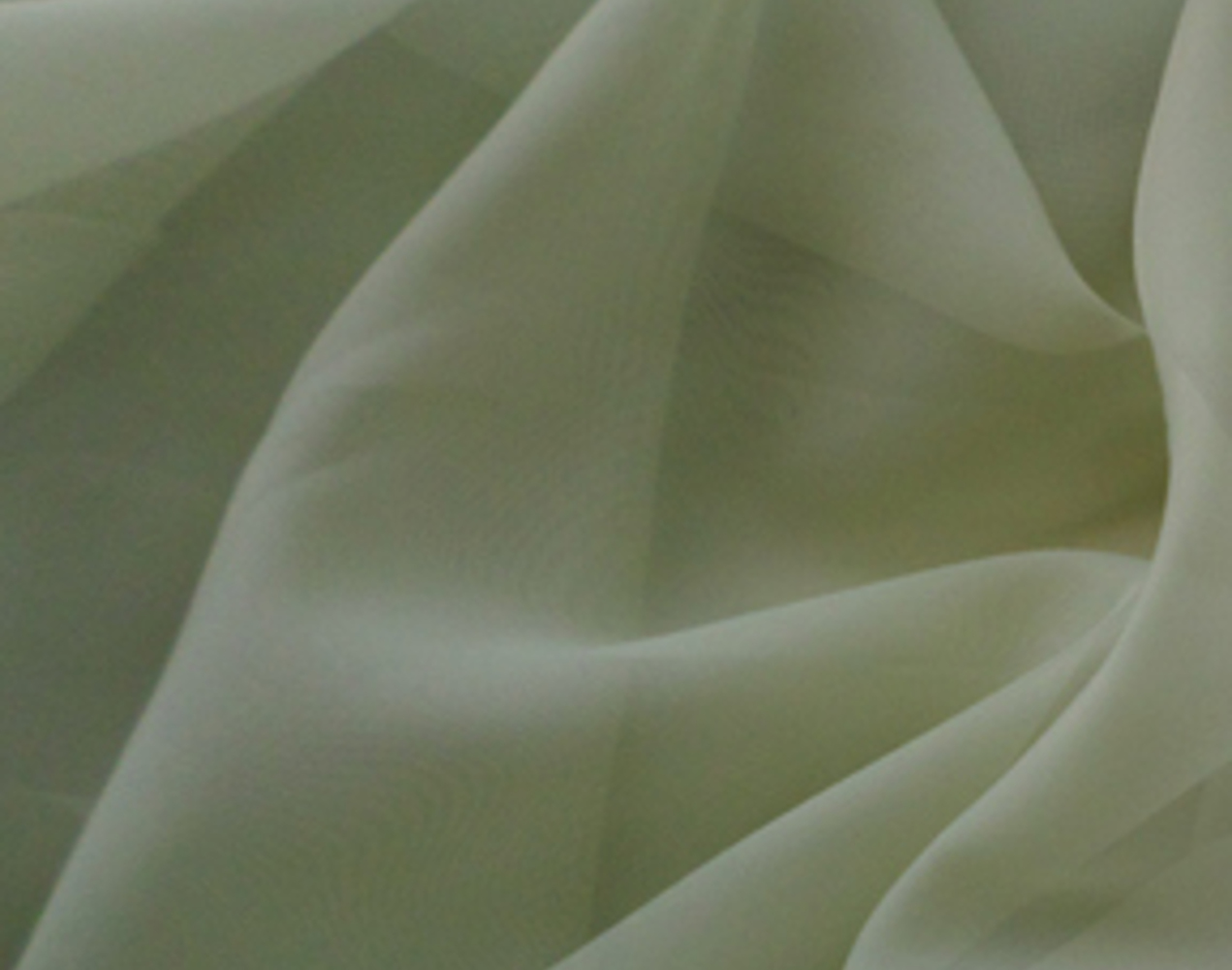 "Voile Fabric 118"" Wide in Sage - By the Yard"