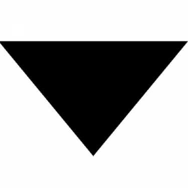 "Triangle Bandana - Black 22"" X 22"" X 30"" 12 PACK"