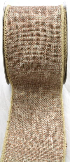 2.5 Sparkle Faux Burlap-Natural 10 yds