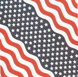 "100% Cotton USA Stars&Stripes Flag Bandana - 22"" x 22"""