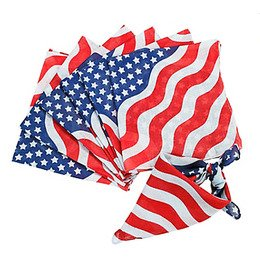 "100% Cotton USA Stars&StripeFlag Bandanas - 22"" x 22"" Pack of 12"