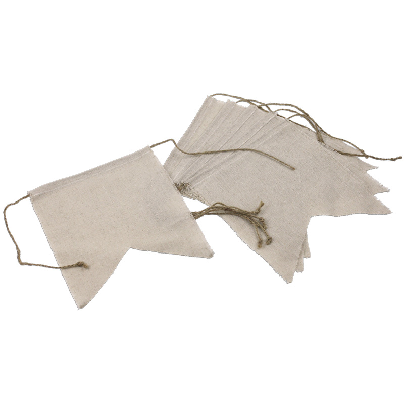 "Swallow Tail Linen Banners - 8"" x 10"" (Pack of 6)"