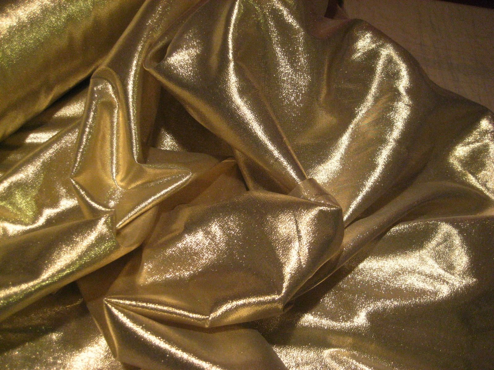 "Gold Colored Lame Fabric - 45"" Wide"