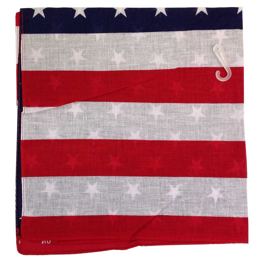 "100% Cotton Bandana -USA 22"" x 22"""