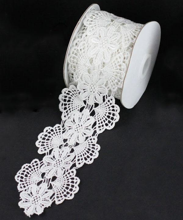 Floral Lace - White 2-3/4 x 5 Yds