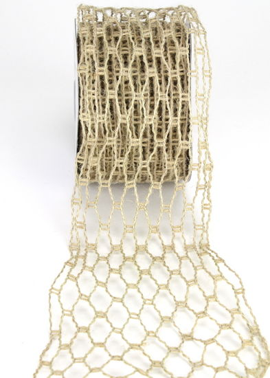 6. 2.5 x 10Yards Net Burlap Ribbon (Wired)