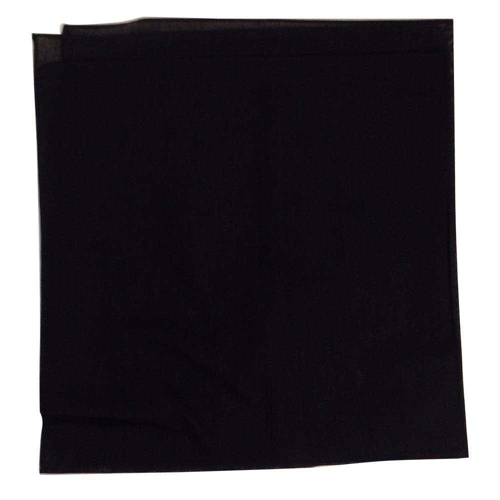 "Solid Color Bandana - Black 27"" x 27"""