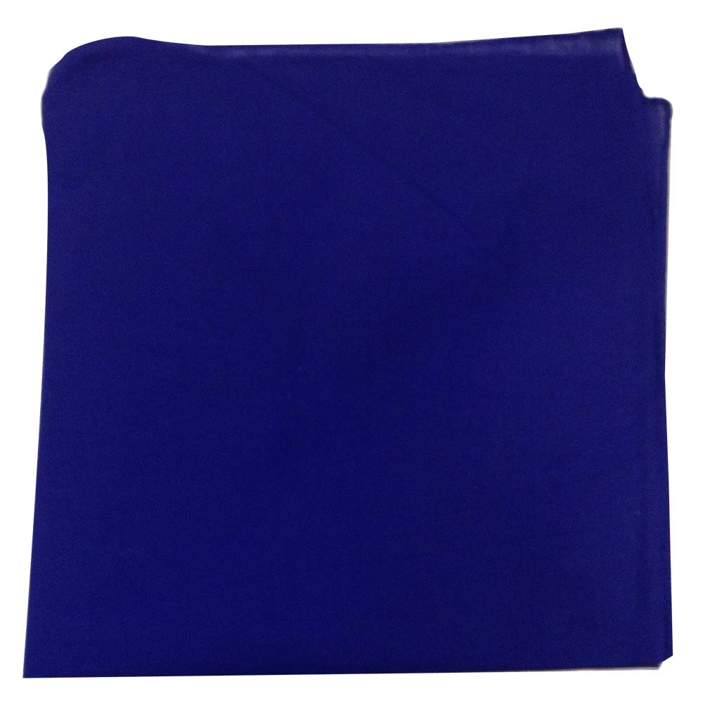 "Solid Color Bandana - Blue 27"" x 27"""
