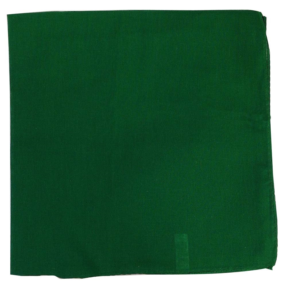 "Solid Color Bandana - Green 27"" x 27"""