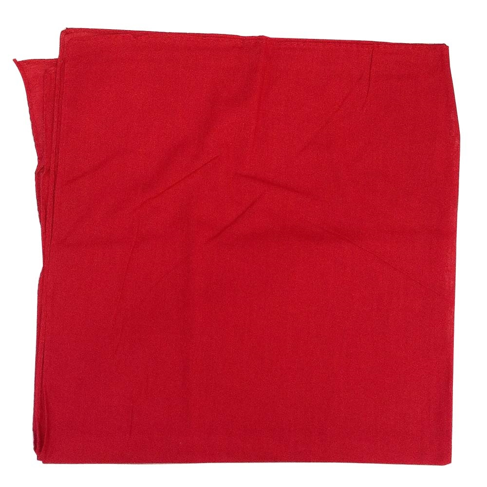 "Solid Color Bandana - Red 27"" x 27"""