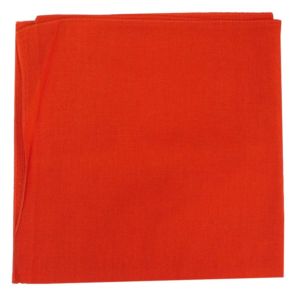 "Solid Color Bandana - Orange 27"" x 27"""