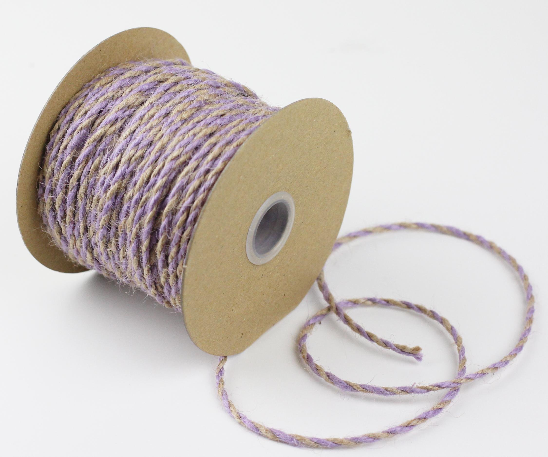 Lavender/Natural Jute Twine - 2.5mm x 50 Yards