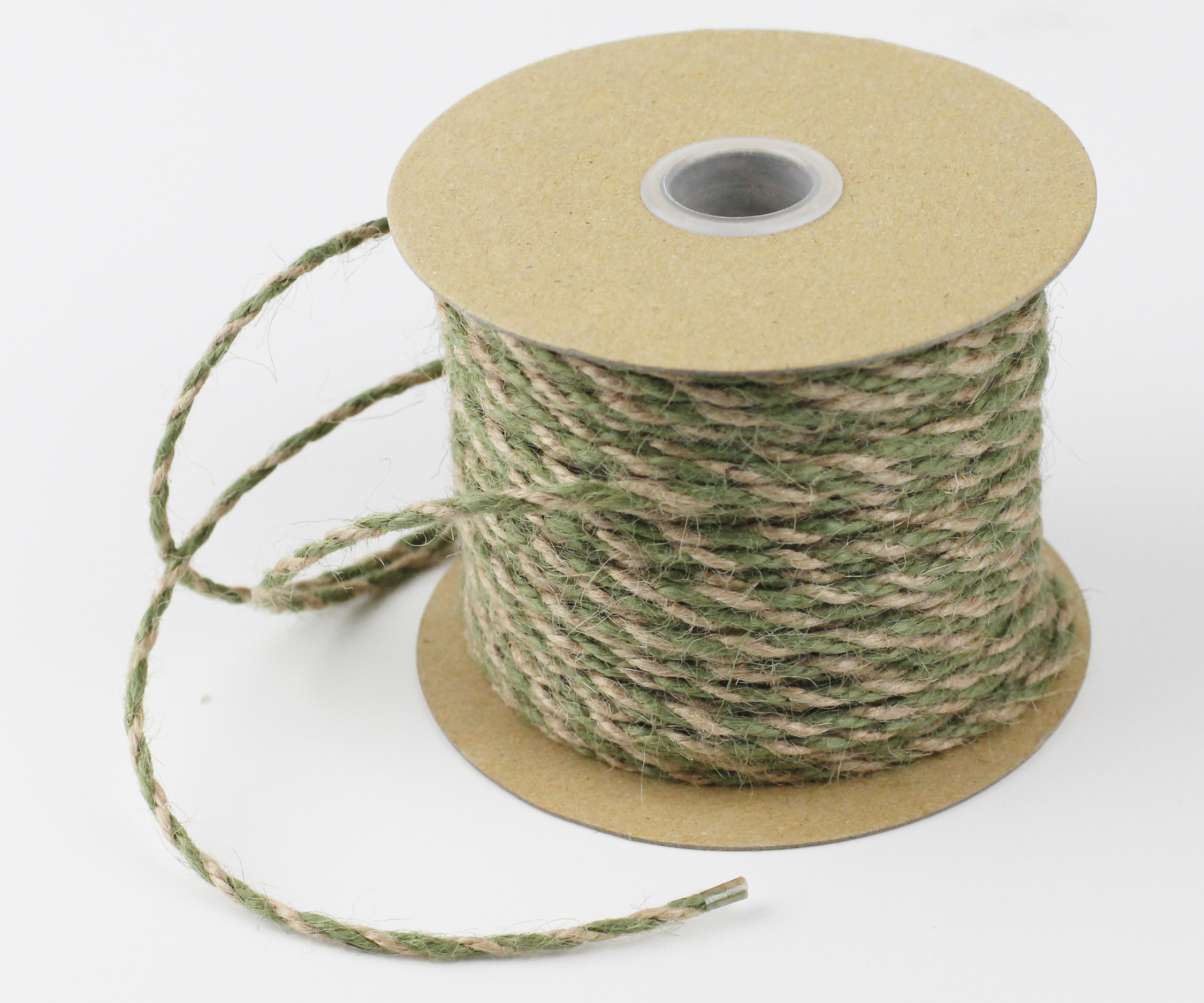Moss/Natural Jute Twine - 2.5mm x 50 Yards