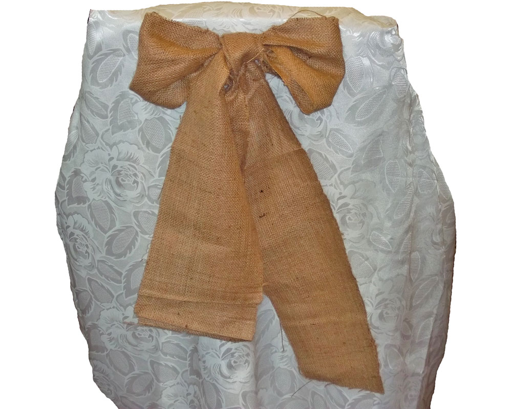 "Burlap Chair Sash (Unserged Edge) - 7"" x 108"""