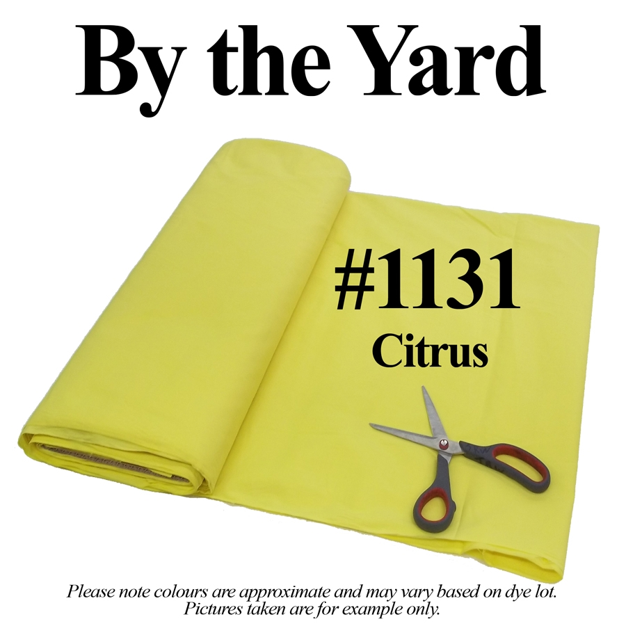 "45"" Citrus/Lemon Broadcloth- By the Yard"