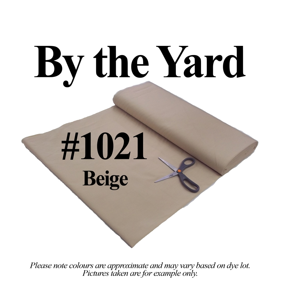 "45"" Beige/Hickory Broadcloth - By the Yard"