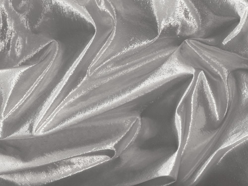 "Silver Colored Lame Fabric - 45"" Wide"
