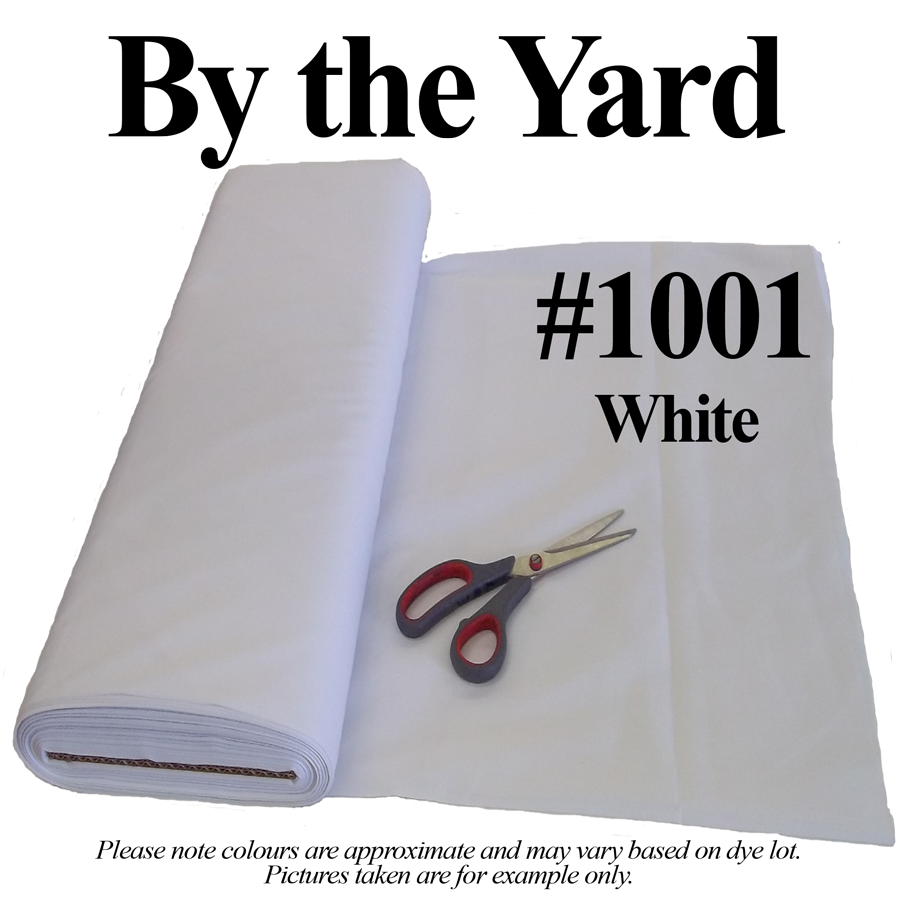 "45"" White Broadcloth - By the Yard"