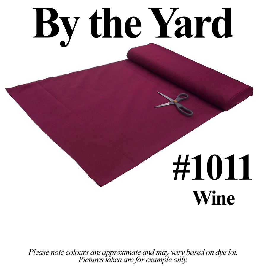 "45"" Wine Broadcloth - By the Fabric"